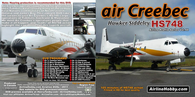Air Creebec Hawker Siddeley HS748 DVD