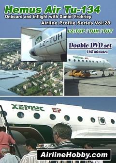 Hemus Air Tupolev Tu-134 Double DVD Set