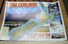 CP Air Boeing 747 Expo 86 New Zealand Here We Come promo poster