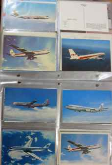 Boeing 707 postcard collection for sale at HenryTenby.com