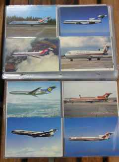 Boeing 727-200 postcard collection 200 different cards