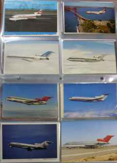 Boeing 727-100 postcard collection for sale at HenryTenby.com