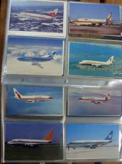 Boeing 737-200 postcard collection 176 different cards