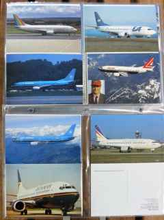 Boeing 737-300/400/500 postcard collection 103 different cards