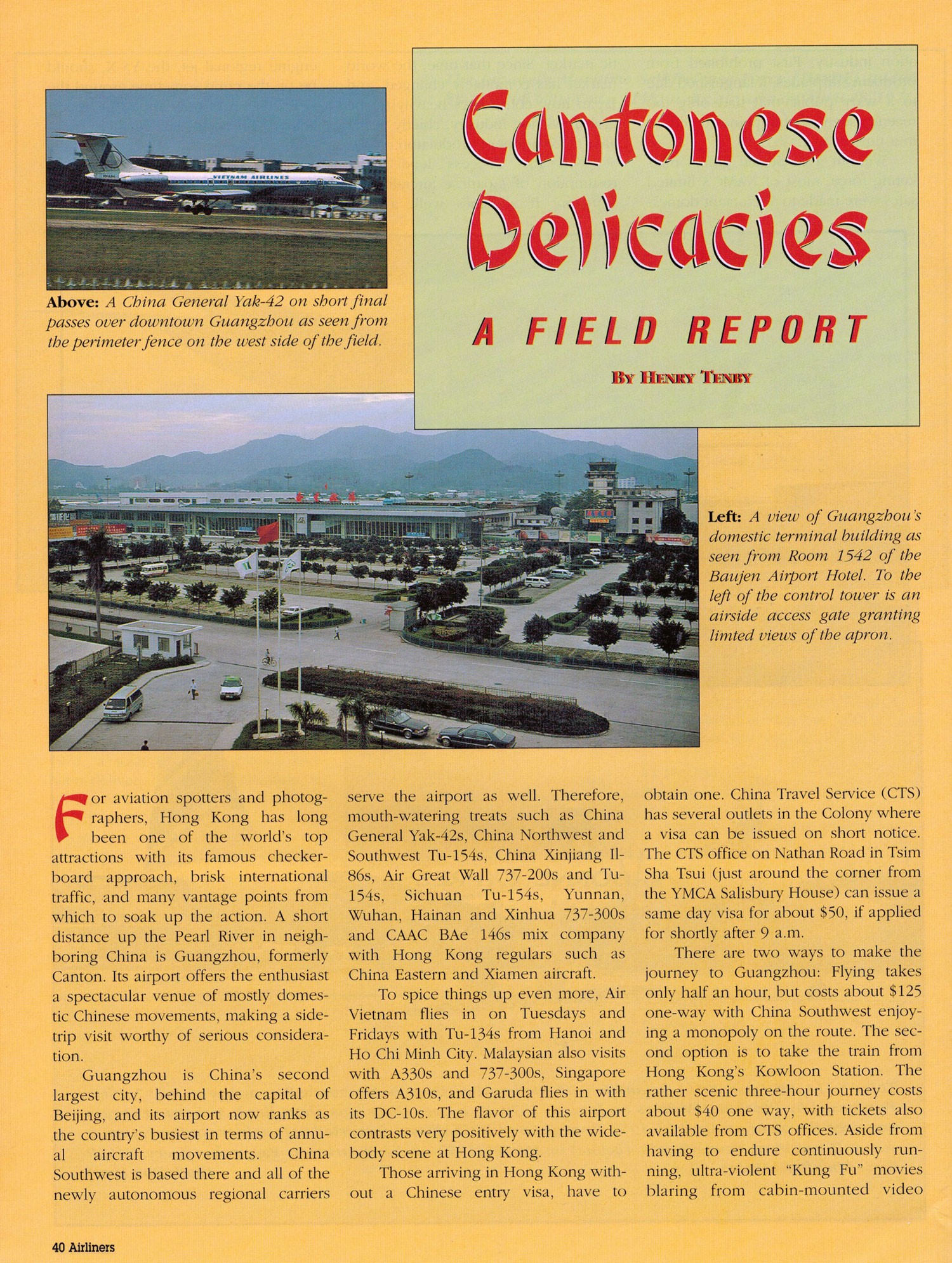 Cantonese Delicacies A Field Report by Henry Tenby