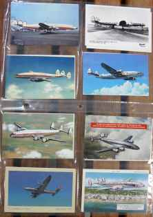 Lockheed Constellation postcard collection 51 different postcards