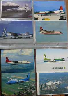 Fokker F27 F50 postcard collection 96 different cards
