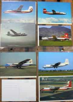 Handley Page Dart Herald postcard collection 11 different cards