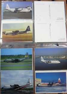 Lockheed, L-100, C130, Hercules, postcard collection 10 different cards