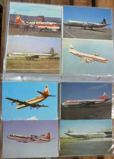 Lockheed L-188 Electra postcard collection 56 different cards
