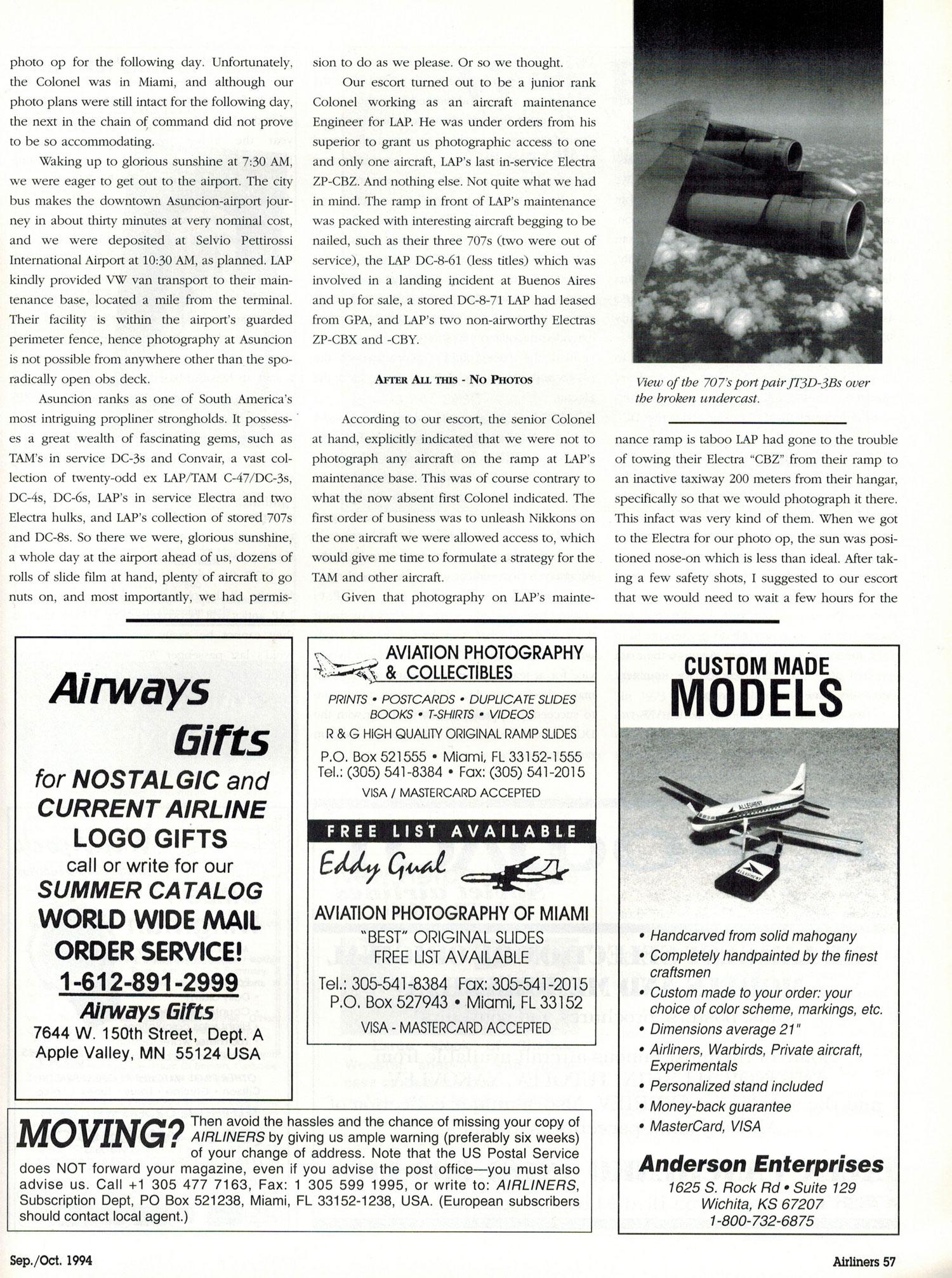 Paraguayan Pleasures: Latin America's Last Passenger 707