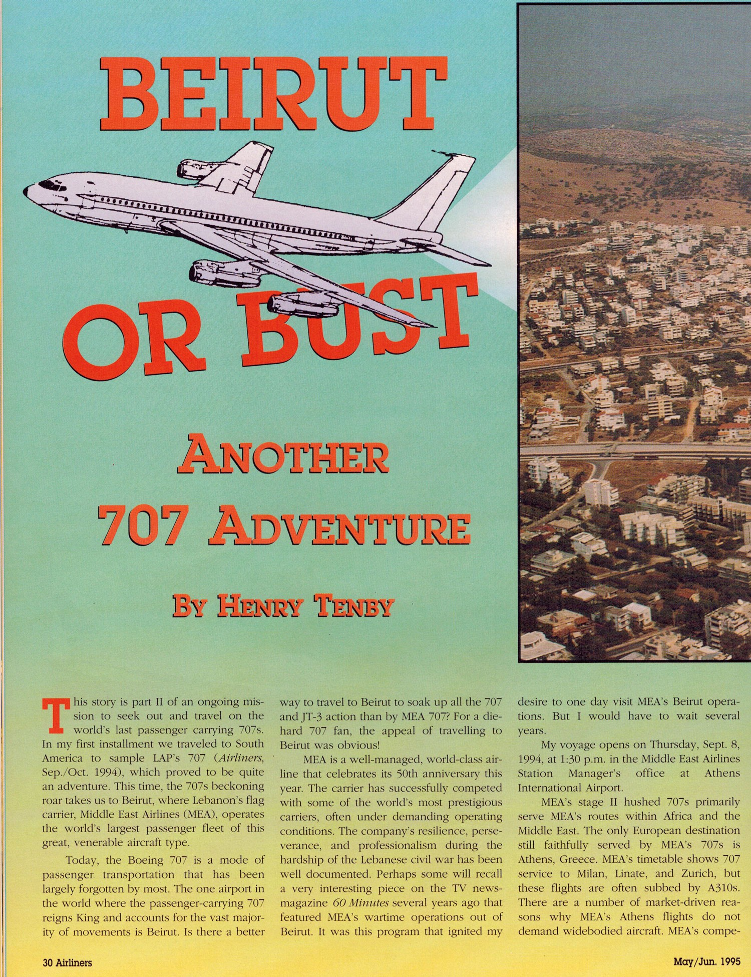 Beirut or Bust Another 707 Adventure by Henry Tenby