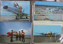 Military aircraft postcard collection 16 different postcards