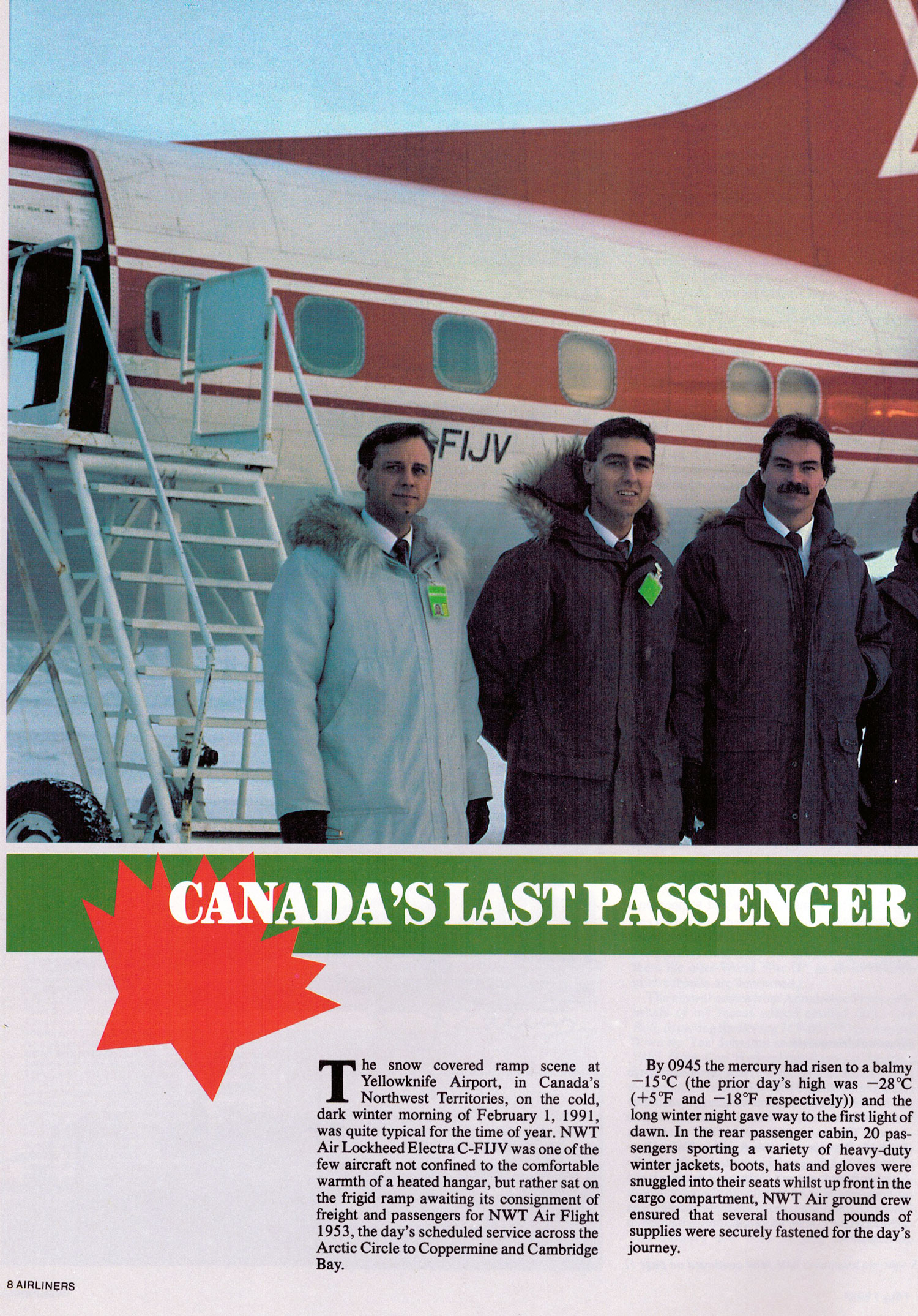 Canada's Last Passenger Electra Story and Photos by Henry Tenby