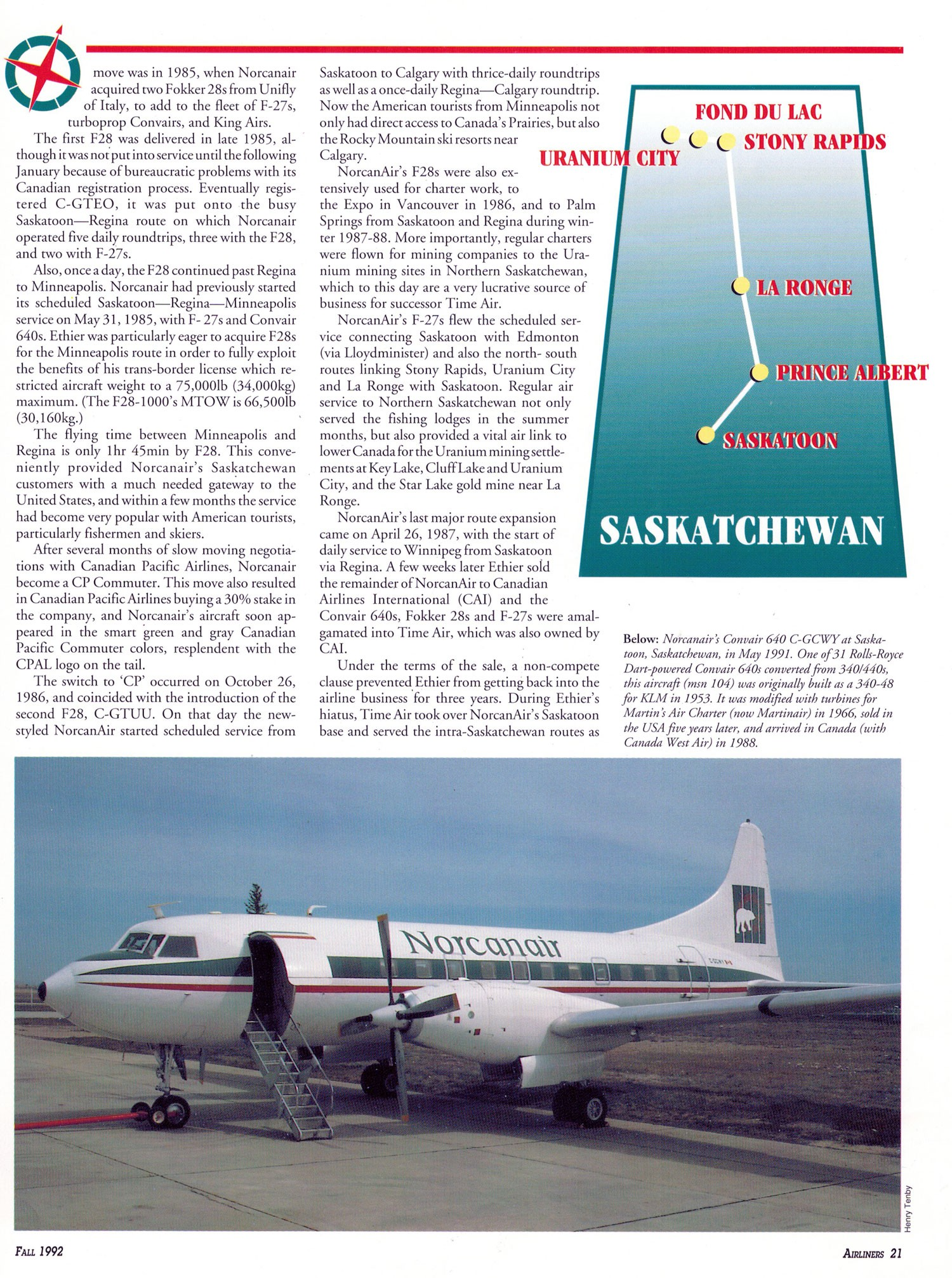 Norcanair Takes Off story and photos by Henry Tenby