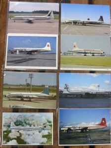 Canadair CL-44 Yukon Bristol Britannia postcard collection