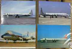 Canadair CL-44 Yukon Bristol Britannia postcard collection