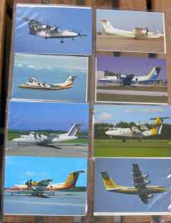 De Havilland Canada Dash-8 postcard collection