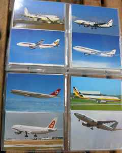 Airbus A300 airline postcard collection