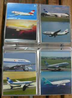 Airbus A310 airline postcard collection