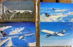 Airbus A330 A340 airline postcard collection for sale