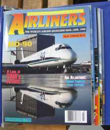Airliners Magazine 8 issues in official Airliners binder Mar/Apr 1995 & up