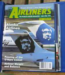 Airliners Magazine 8 issues in official Airliners binder Jan/Feb 1994 & up