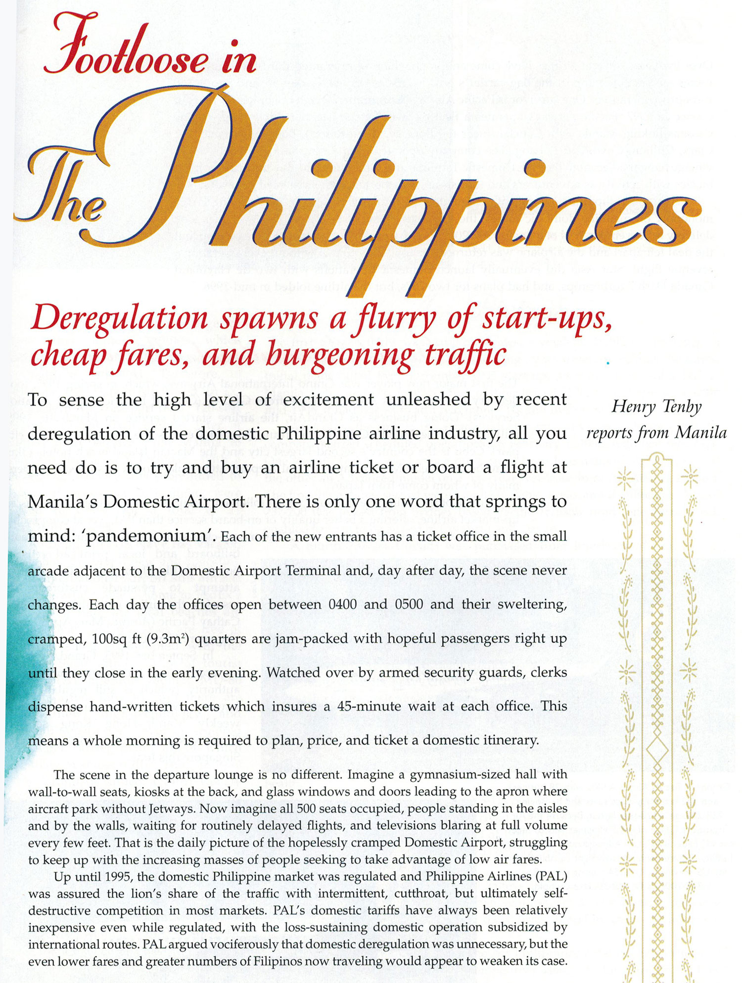 Philippine Airlines, Cebu Pacific, Grand Air, Air Philippines
