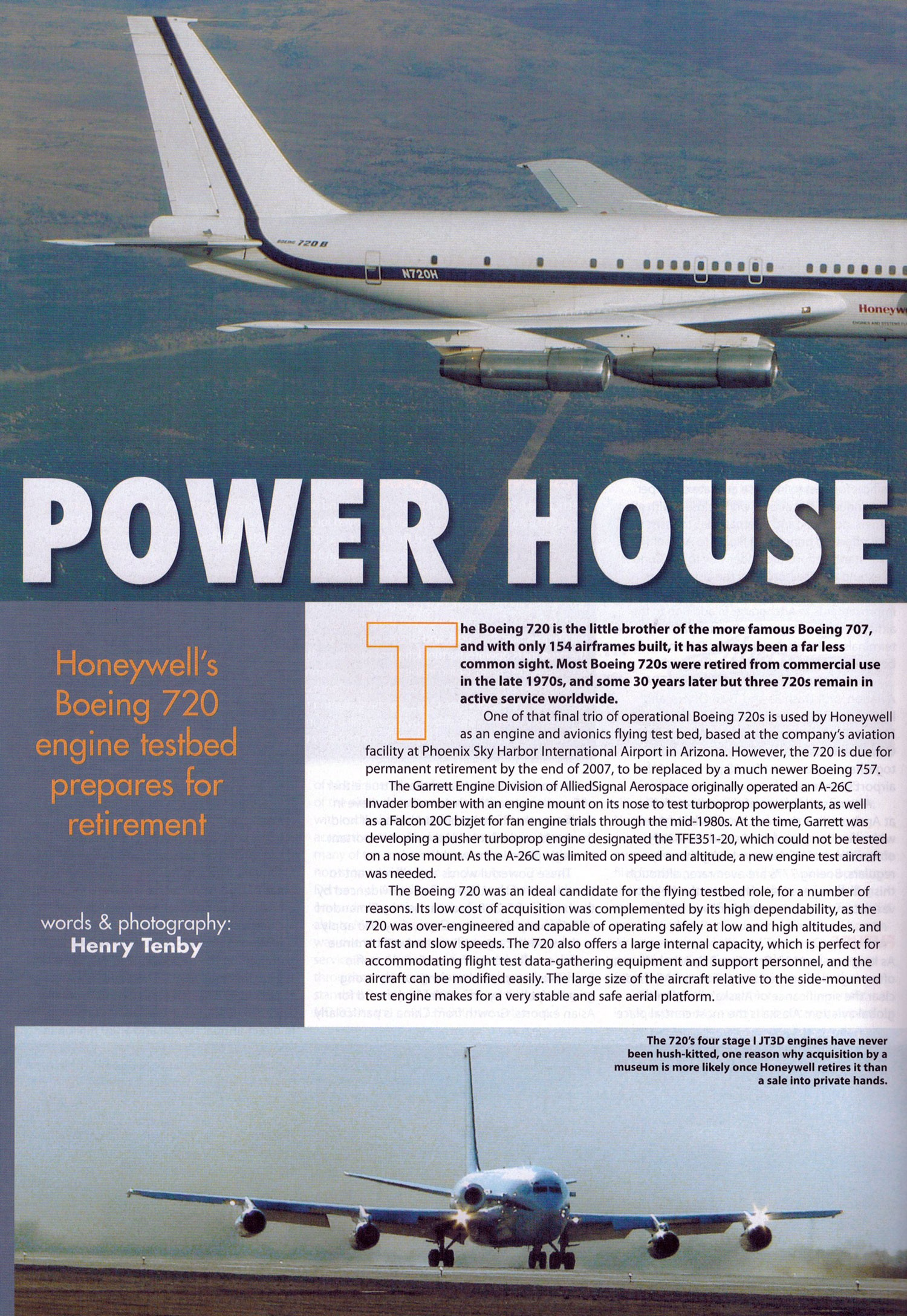 Power House Honeywell's 720 prepares for retirement by Henry Tenby