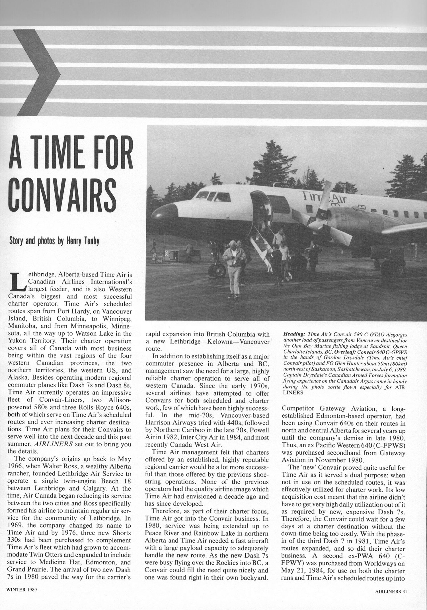 A Time for Convairs story and photos by Henry Tenby