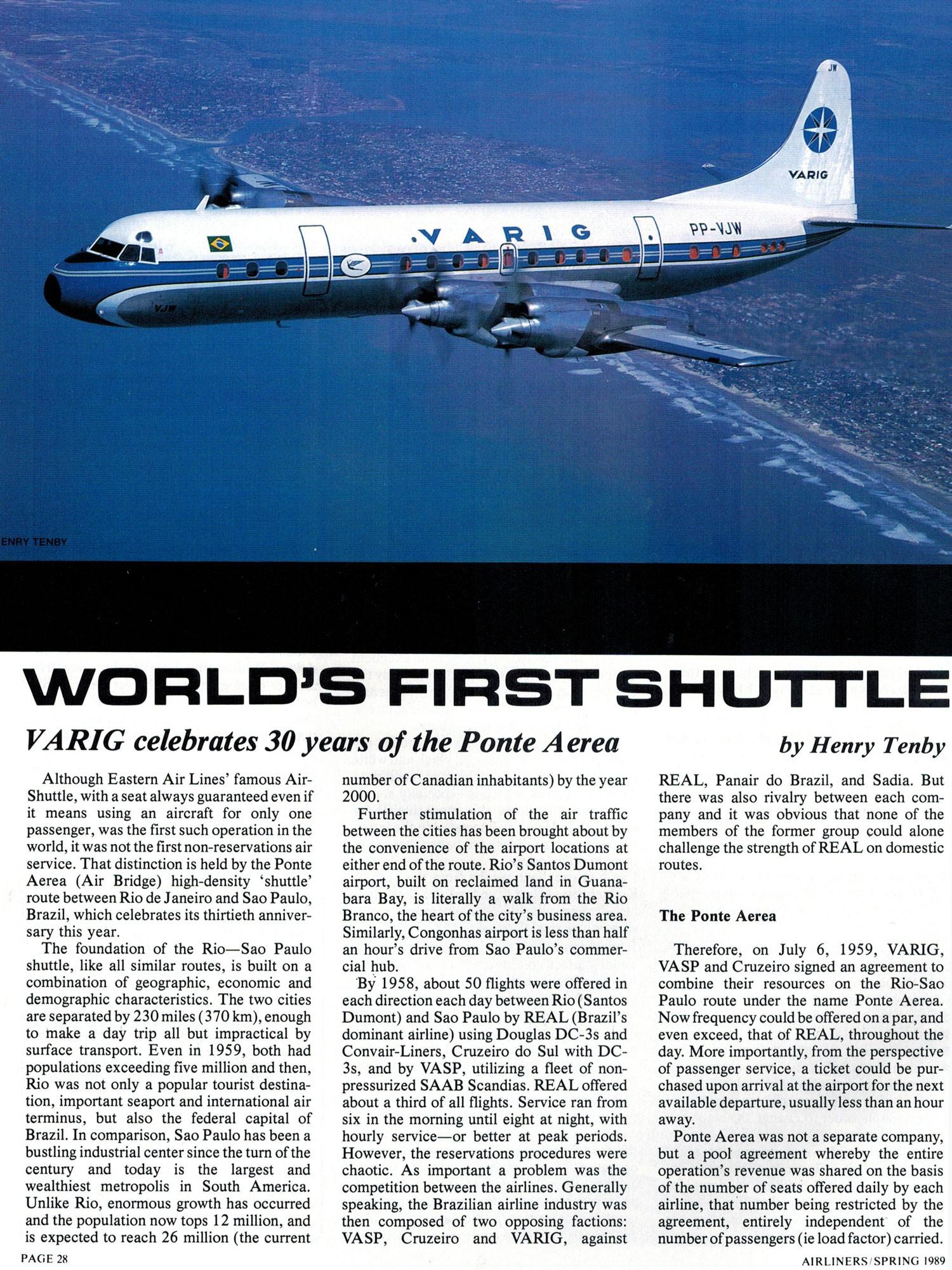 VARIG Lockheed Electra Ponte Aerea