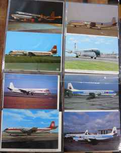 Vickers Vanguard postcard collection 20 different cards