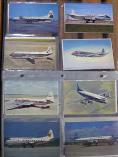 Vickers Viscount postcard collection for sale