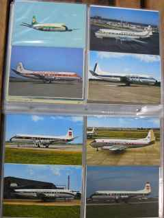 Vickers Viscount postcard collection 68 postcards