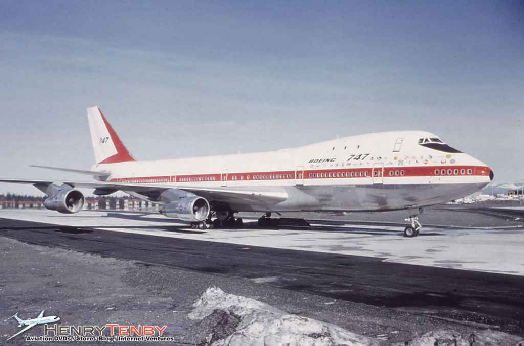 Boeing 747 prototype series 121 N7470 Oct 1970 at Moses Lake, WA