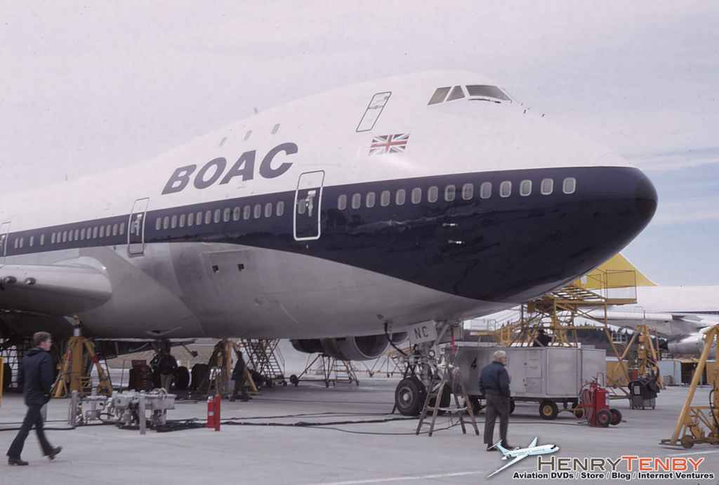 BOAC Boeing 747-136 G-AWNC at Paine Field WA March 1971