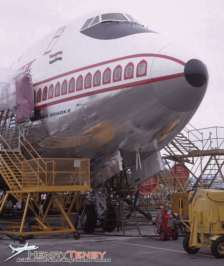 Air India Boeing 747-237B VT-EBD at Paine Field WA March 1971