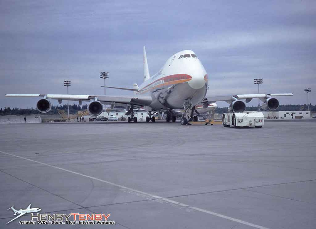 National Airlines 747-135 N77773 at Pain Field WA October 1970