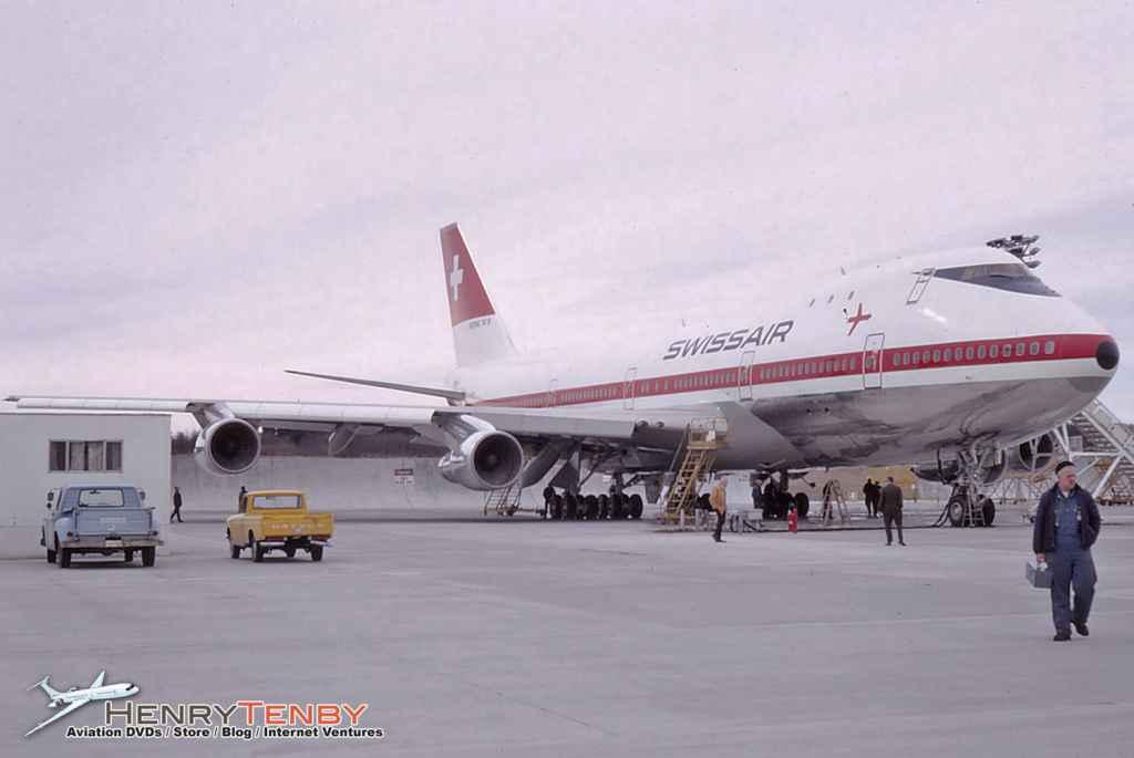 Swissair 747-257B Renton WA March 1971