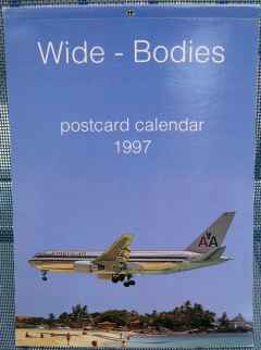 Wide-Bodies 1997 Postcard set of 12 airline postcards