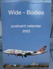Wide-Bodies 2002 Postcard set of 12 airline postcards 4x6 published by JJ Postcards of Switzerland