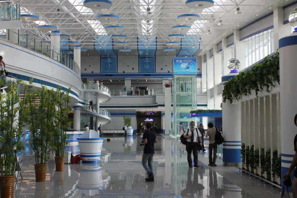 Departure hall of the new Wonsan Airport DPRK North Korea Sep 24, 2015