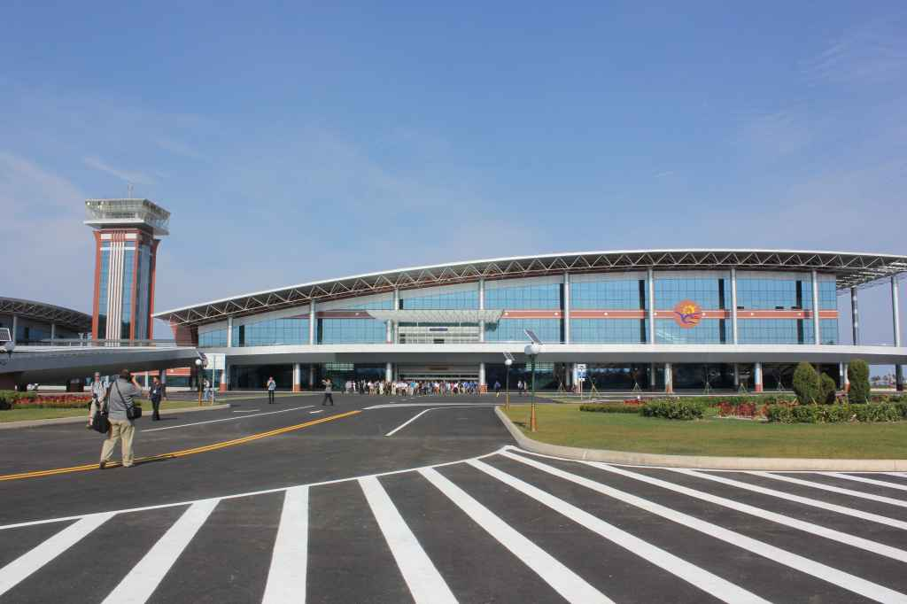 Curbside full terminal view of the new Wonsan Airport DPRK North Korea Sep 24, 2015