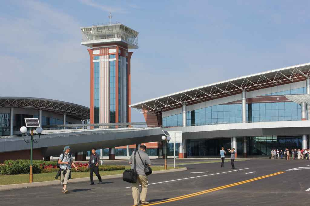 Tower view at the new airport opened at Wonsan DPRK North Korea