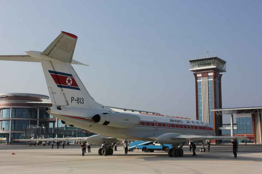 Air Koryo Tu-134 at new Wonsan Airport DPRK North Korea