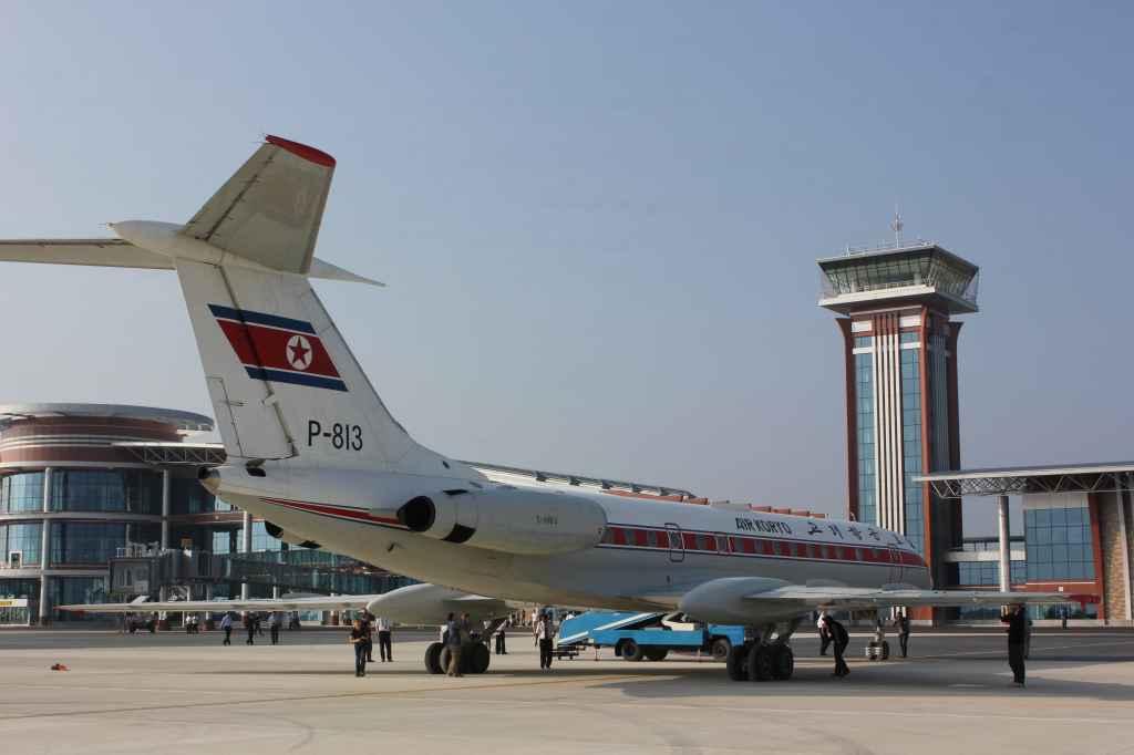 Air Koryo Tu-134 at new Wonsan Airport DPRK North Korea