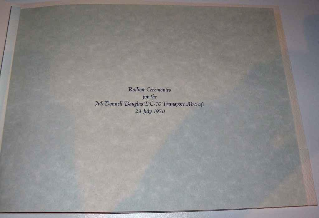 Douglas DC-10 rollout ceremony program page 1