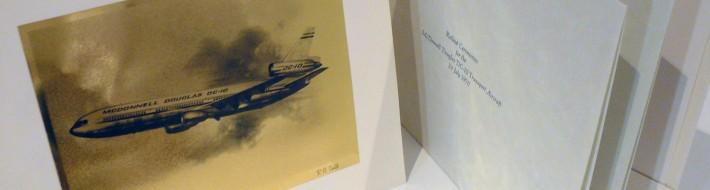Douglas DC-10 gold embossed print