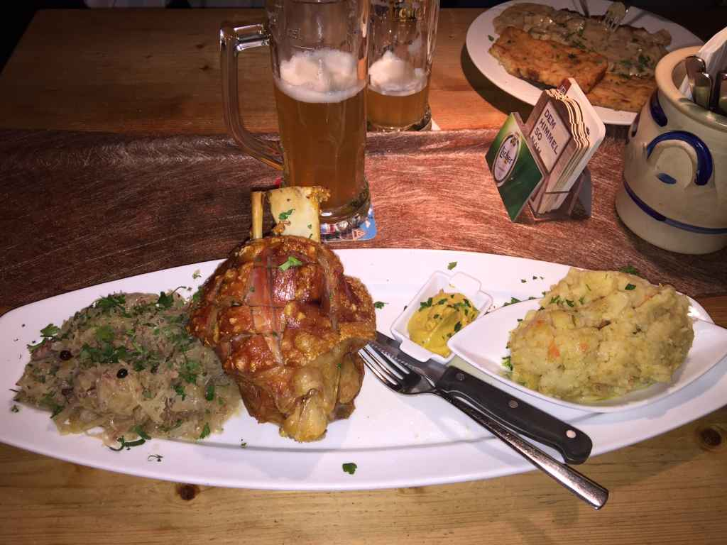 You can't beat the food in Germany! Bring a big appetite!