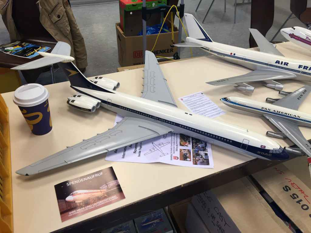 1/72 BOAC VC-10 monster of a model. For sale at the Schawnheim show 2015. Now in the Henry Tenby collection.